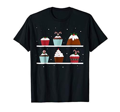 Christmas Cup Cake Holly Jolly Cute T-Shirt Men Women Kids ()