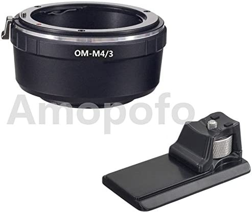 Amopofo OM-M4//3 Long Tripod Adapter,for Olympus OM Lens to M4//3 PL1 P2 GF1 GH4 OM-D G6 Camera Adapter