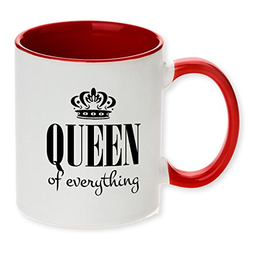 Queen of Everything funny red tone funny coffee mug! Perfect for the Queen in the house! ()