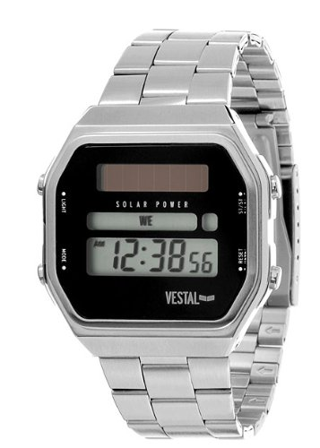 Vestal Syncratic Solar Men's Chrono Digital Watch Silver SYNDM02 [Watch]