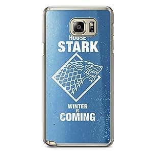 Game of thrones Samsung Note 5 Transparent Edge Case - House Targaryen
