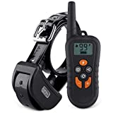 Cheap HAOLIXIN Dog Training Collar Dog Training Shock Collar with 500 Yards Remote Control 4 Modes Night Light Beep Vibration Shock Rechargeable E Collar for Small Medium Large Dogs