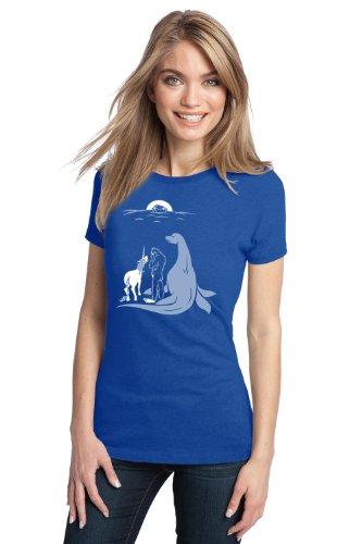Noah Forgot Bigfoot, Unicorn, & Loch Ness Monster | Funny Ladies' Humor T-shirt