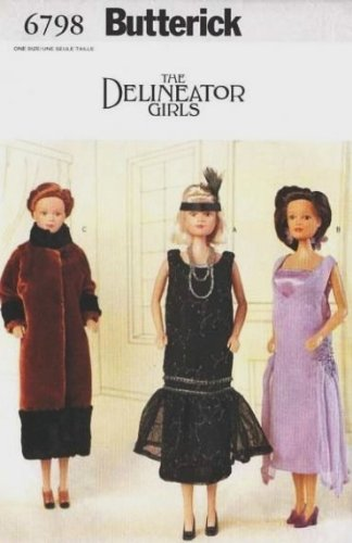 Amazon.com: Butterick 6798 / 333 Dileneator Girls 1925 Styles Sewing ...