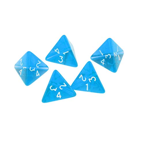 5 Pieces Gem Muti 4 sided dice suit for D4 Dark Heresy D&D RPG Warhammer Games Supplies ()