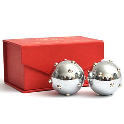 (Baoding Balls Exercise Stress Relaxation Therapy Chinese Health Massage Balls)
