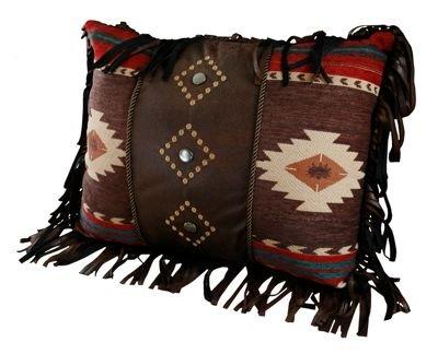 Carstens Cimarron Pillow (Leather Fringe Pillow)