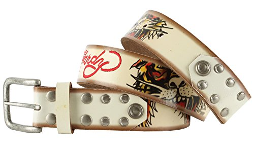Ed Hardy EH1110K Open Mouth Tiger Boys-Leather Belt (Ed Hardy Fashion Belt)