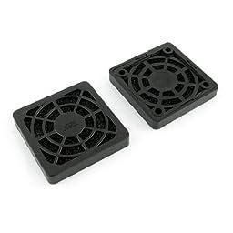 uxcell 2 Pcs Black Plastic Square Dustproof Filter 40mm PC Case Fan Mesh