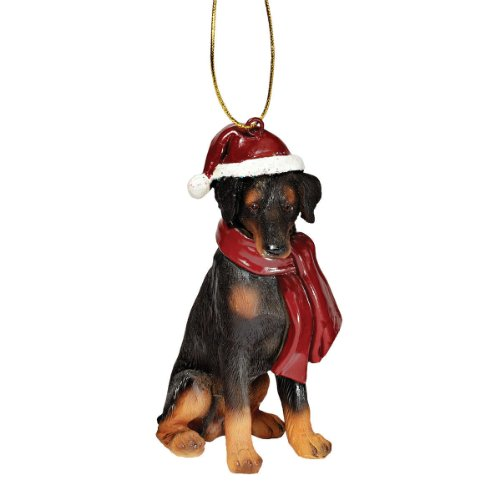 (Christmas Ornaments - Xmas Doberman Pinscher Holiday Dog Ornaments)