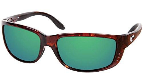 Costa Zane Polarized Sunglasses Tortoise/Green Mirror 580 Glass, One - Costa Zane Sunglasses