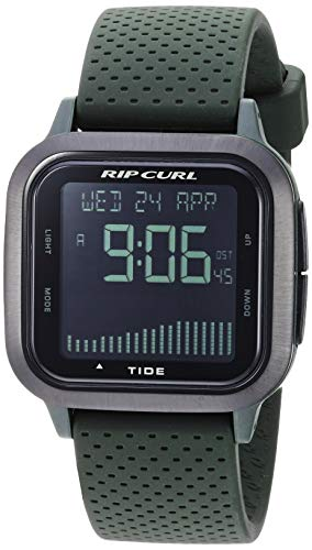 Rip Curl Men's Quartz Sport Watch with Silicone Strap, Grey, 22.3 (Model: A1137MIL1SZ)