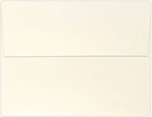 A4 Invitation Envelopes w/Peel & Press (4 1/4 x 6 1/4) - Champagne Metallic (50 Qty) | Perfect for Invitations, Announcements, Sending Cards, 4x6 Photos | 4872-M08-50