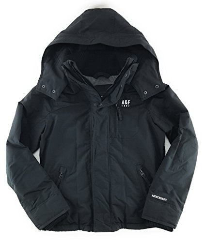 Abercrombie   Fitch Mens All Season Weather Warrior Jacket Medium Black