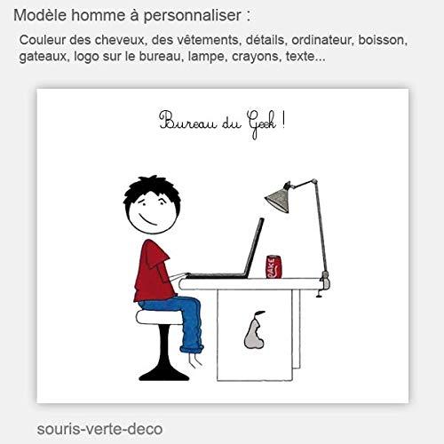 Plaque De Porte De Bureau A Personnaliser Modele Homme Ou Femme