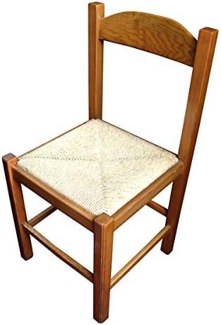 Sedie Da Cucina Impagliate.Osn Sedia In Legno Massello Con Seduta Impagliata Per Cucina E Sala Da Pranzo Amazon It Casa E Cucina