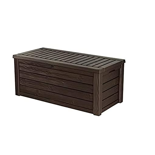 Deck Boxes Keter Westwood 150 Gallon Resin Large Deck Box-Organization and Storage for Patio Furniture, Outdoor Cushions, Garden… outdoor deck boxes