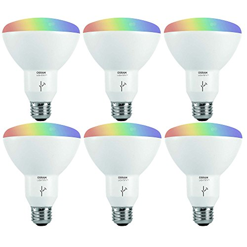 Sylvania Osram Lightify Smart Home 65W BR30 White/Color LED Light Bulb (6 Pack) by Osram