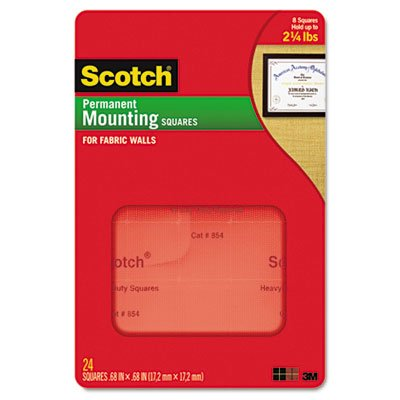 Cubicle Fabric (MMM854 - Scotch Permanent Heavy-Duty Mounting Squares for Fabric)