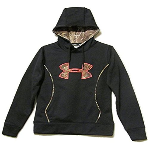 Under Armour Women's Big Logo Camo Hoodie Sweatshirt Loose Fit (Medium) (Blue Camo Under Armour Sweatshirt)