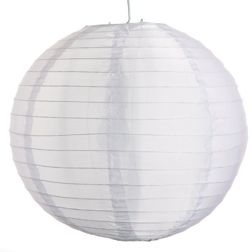 (Set of 3) Round Party Wedding Lanterns (18 Inch, White Nylon Waterproof Lanterns)