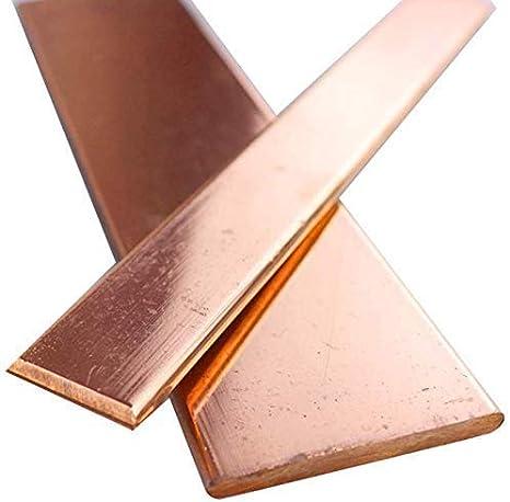 15mm Dicke 2mm,12mm Breite 10mm 12mm Wzqwzj Reines Kupfer-Streifen Massiv 500mm