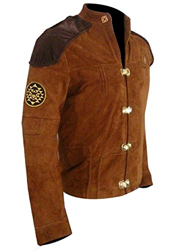 Battlestar Galactica Viper Pilot (Warriors Viper Pilot Battlestar Galactica Brown Suede Jacket-Lowest Price Jacket (Brown, 3XL- Fit For 49-50 inches Chest))