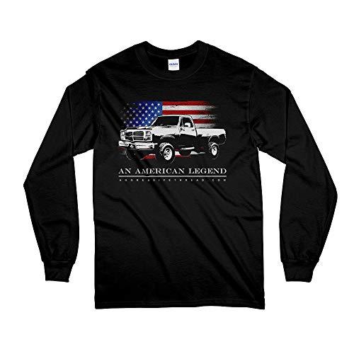 1981-1993 First Gen Dodge Ram American Flag Long Sleeve T-Shirt