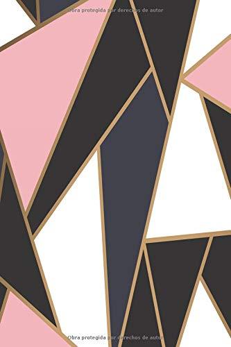 Cuaderno Elegante y Practico | Diseño de Mosaico de Oro Rosa Blanco Negro | Libreta Para Escribir | Para Tomar Notas (Cuadernos Para Escribir)  [Lode, Parode] (Tapa Blanda)