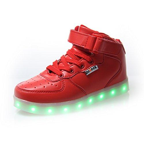 Uomo Scarpe Sportive DoGeek Uomo LED Rosso Accendono con Luminosi Sneakers Scarpe Luci 6TqxR7