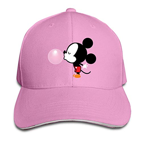 Sakanpo Balloon Mickey Mouse Cap Unisex Low Profile Cotton Hat Baseball Caps Pink -