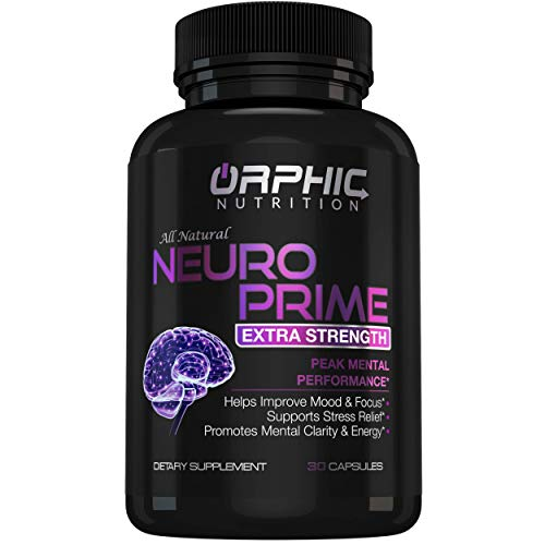 Neuro Prime Brain Booster Supplement - Memory, Focus, Alertness, Clarity & Concentration - Mental Performance Nootropic - Ginkgo Biloba, St. Johns Wort, DMAE, L-Carnitine, Bacopa Monnieri Extract (Best Vitamins For Memory And Focus)