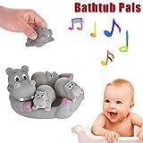 Gbell Squeak Baby Bath Toys Set - Cute Shark Family Bathtub Pals - Hippopotamus Crocodile Dolphins...