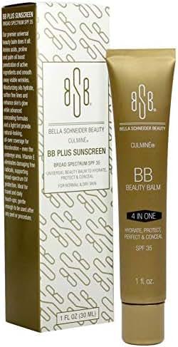 Bella Schneider Beauty Culmine BB Plus Broad Spectrum SPF 35 Beige, Tinted Moisturizer, Blemish Concealer Balm, Dry skin Remedy, Anti-Wrinkle Balm, Soften Fine Lines, Color Correcting, UV Protection,