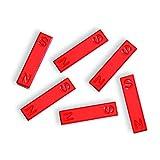 hand2mind Red Ceramic Bar Magnets, 1.5 Inch