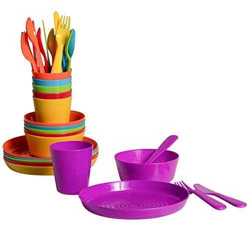 Klickpick Home Kids colorful dinnerware set 6 colors (36 PCS SET)