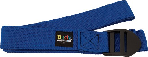 Body Sport Yoga Straps, Blue, 6-Feet