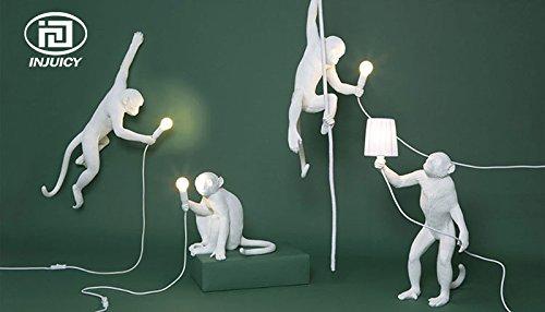Injuicy Lighting Loft Vintage Resin Hemp Rope Monkey Pendant Lights Fixture Industrial Retro E27 Edison Ceiling Pendant Lamp Single Light for Dining Living Room Children's Bedroom Bar Cafe Gift by IJ INJUICY (Image #8)