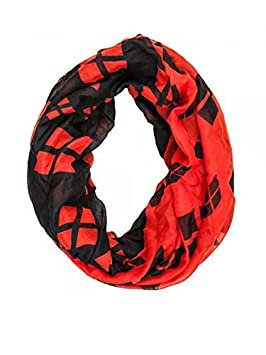 Viscose Scarf - DC Comics - Batman - Harley Quinn Color Block Infinity New sf2punbtm BioWorld 2609