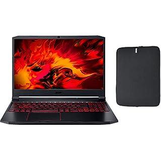 "Acer Nitro 5 15.6"" FHD IPS Gaming Laptop w/ Woov Sleeve, Intel Quad-Core i5-10300H, 16GB RAM, 512GB PCIe SSD, NVIDIA GeForce GTX 1650 4GB, Backlit Keyboard, USB-C, Windows 10 Home"