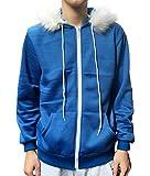 Jonikow Undertale Sans Adult Children Blue Print Hoodie Cosplay Costume Jacket Sweatshirts(M, Children)