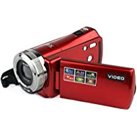 LWD Portable Digital Video Camcorder HD Max. 16.0 Mega pixels 1280720P DV 2.7 Inches TFT LCD Screen 16X Zoom Camera Recorder (RED)