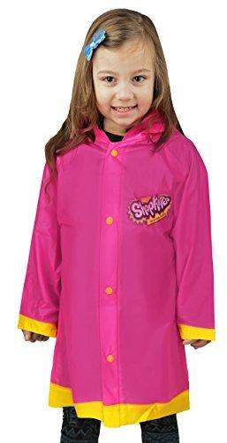 Shopkins Girls Pink ''I love SPK'' Rain Slicker - Size 6-7 by Shopkins