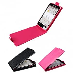 Flip PU Leather Protective Cover Case for Lenovo A516 --- Color:Rose Red