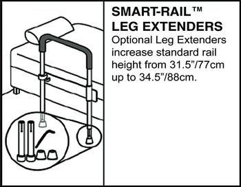 Healthcraft Smart Rail - Smart-Rail Leg Extenders