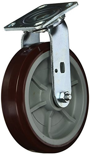 Service Caster SCC-30CS820-PPUR Heavy Duty Swivel Caster, Non-marking Polyurethane Wheel, 8