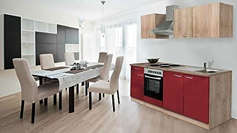respekta - Cucina componibile con Angolo Cottura 210 cm, Effetto ...