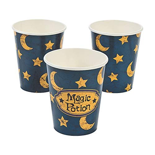 Fun Express - Wizard Realm 9oz Cup (8pc) for Birthday - Party Supplies - Print Tableware - Print Cups - Birthday - 8 Pieces (Wizard Realm Party Supplies)