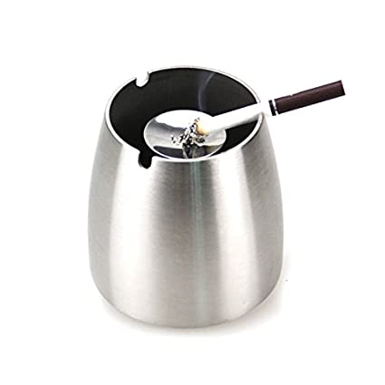 outside home office shed wofo medium outdoor ashtray windproof stainless steel cigarette for outside home office medium amazoncom