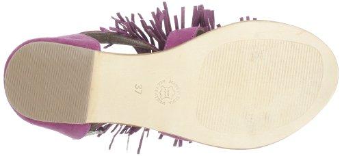 Black Lily colette sandal - Sandalias de cuero mujer rosa - Pink (fuchsia)